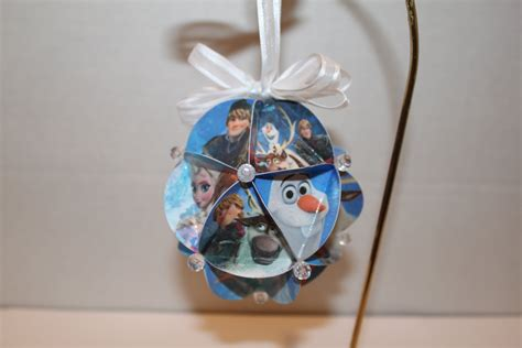 disney frozen christmas ornament by blossomsandbows1 on etsy