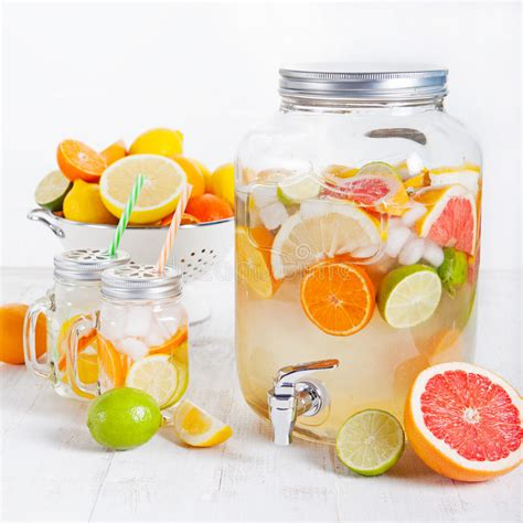 Infused Water Detox Plan by Detox Fruit Infused Flavored Water Lemonade Cocktail In