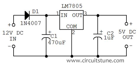 5v 12v power supply circuit diagram 12v to 5v dc dc converter circuit diagram circuitstune