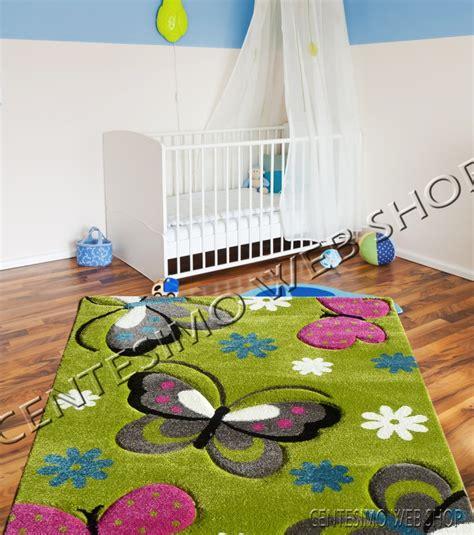 tappeto cameretta bimbo tappeto cameretta 100x140 cm bimbo bimba farfalla verde