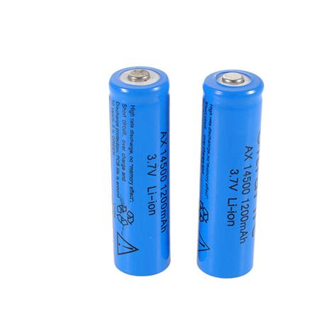 Battery Li Ion 14500 1200 Mah torches 3 7v 1200mah icr 14500 li ion lithium rechargeable battery was listed for r74 50 on 11