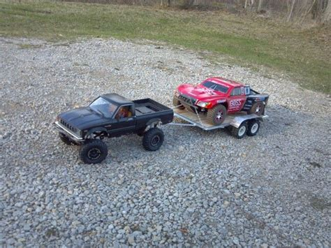 rc boat trailer for traxxas blast rc4wd towing my home made trailer with one of my traxxas