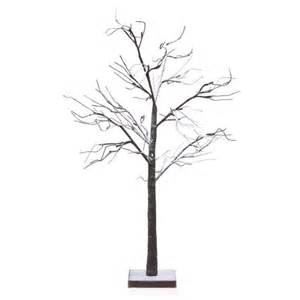 table top lighted tree 48 quot led lighted poseable snowy brown leafless twig tree