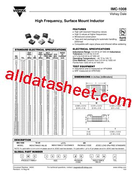 vishay inductor marking vishay inductor marking 28 images lpe 6562 datasheet pdf vishay siliconix inductor color