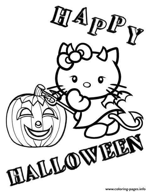 hello kitty devil coloring page devil hello kitty and pumpkin halloween coloring pages