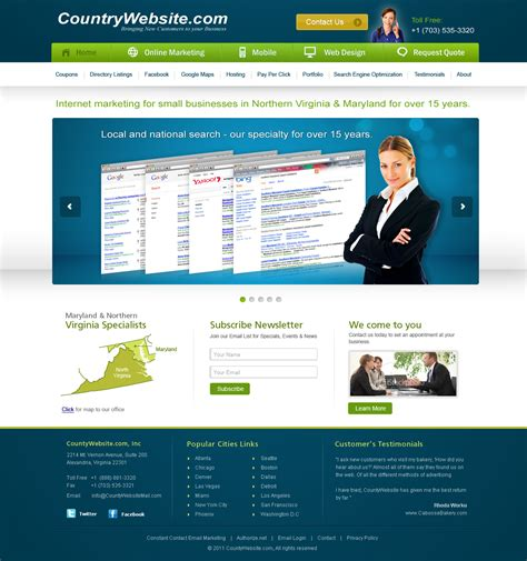 free online home page design unique web page design wanted for countywebsite com