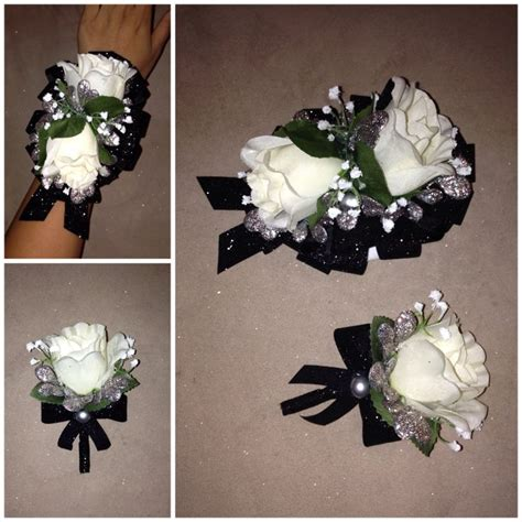 Handmade Corsage And Boutonniere - boutonnieres white roses and diy and crafts on
