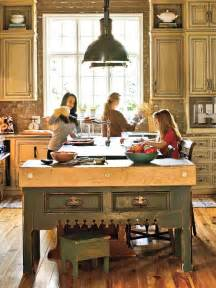 antique island for kitchen antique green myhomeideas