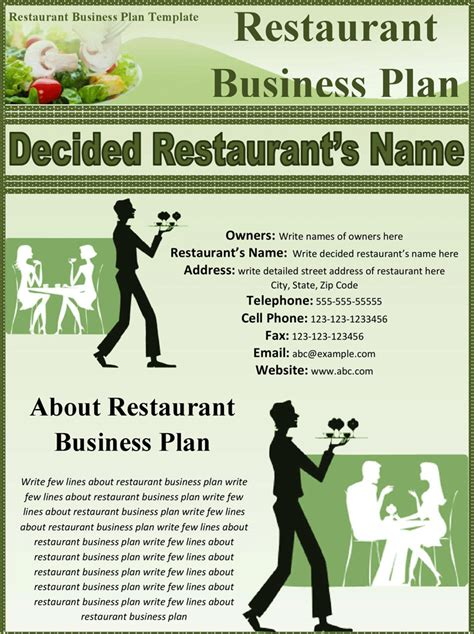 restaurant business template 32 free restaurant business plan templates in word excel pdf