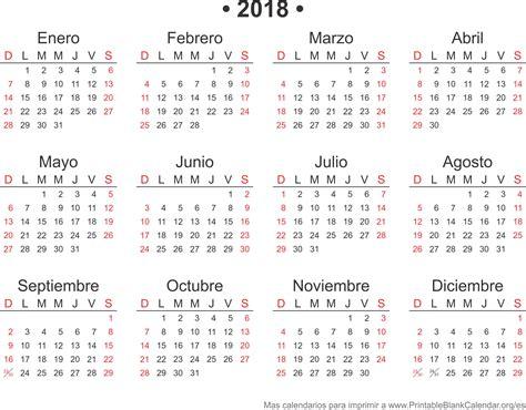 Calendario 2017 Meses 2018 Calendarios Anuales Para Imprimir Calendarios Para