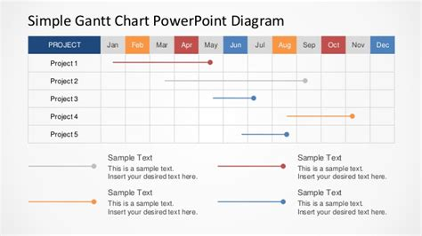 simple gantt chart template simple gantt chart powerpoint diagram slidemodel