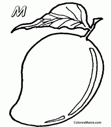 imagenes de frutas faciles para dibujar colorear mango empieza con m frutas dibujo para