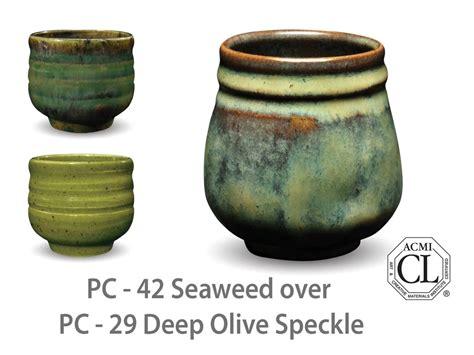 amaco glaze amaco potter s choice pc 42 seaweed glaze
