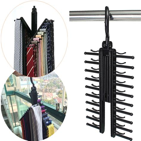 360 degree rotatable adjustable belt hanger tie rack scarf