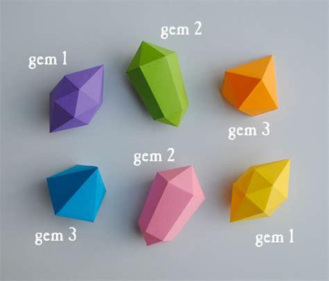Origami Gem - paper gems templates minieco