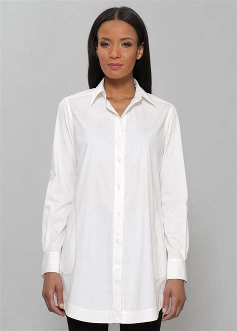 30779 White Cotton Blouse italian stretch cotton jaycee blouse womens blouses designer shirts lafayette148ny