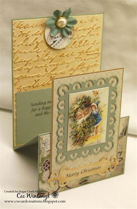 Special Handmade Cards - handmade card vintage look special fold