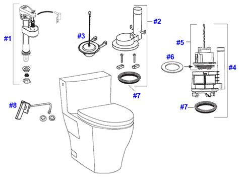 Toto Plumbing Parts by Toto Legato Toilet Replacement Parts