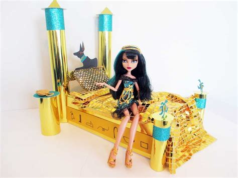 How To Make A Cleo De Nile Doll Bed Tutorial Monster High High Doll Bed Set