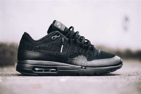 Nike Air Max 1 Ultra Flyknit Black nike air max 1 ultra flyknit black sneakers addict