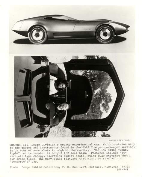 charger concept car 1968 dodge charger iii concept car dpl dams