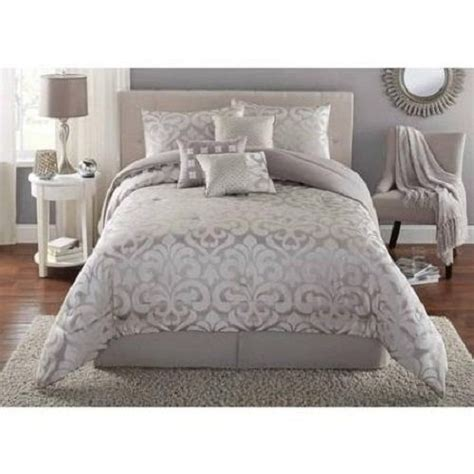 grey full size comforter comforter set full queen size bed 7 piece bedding gray
