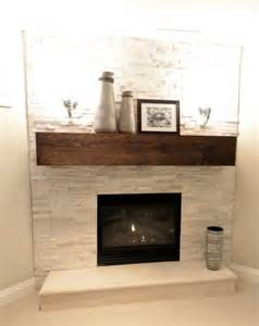 fireplace feature wall basement in the