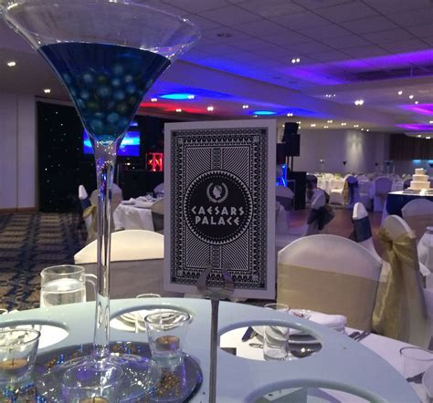 Las Vegas themed wedding reception   Table Numbers by