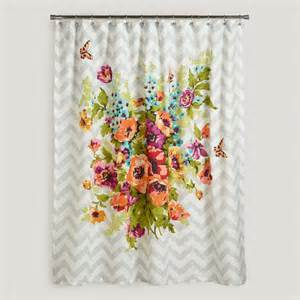 floribunda shower curtain contemporary shower curtains