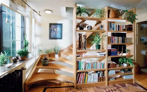 schöne bücherregale treppe design regal