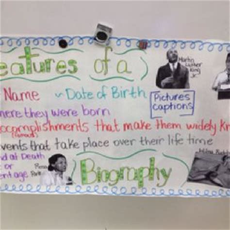 anchor chart for biography and autobiography the o jays anchor charts and charts on pinterest