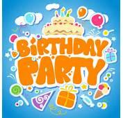 Funny Cartoon Happy Birthday Cards Vector 04