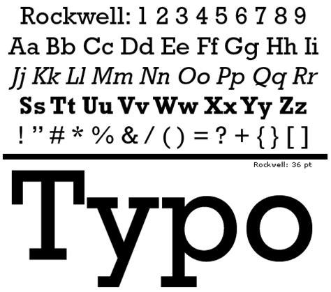 dafont rockwell caracter 237 sticas de las familias tipogr 225 ficas egipcias la