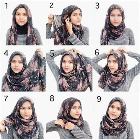 tutorial hijab segi empat ootd tutorial hijab segi empat simple hijab tutorial