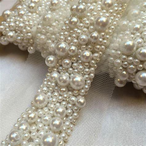 beaded trimmings uk multi pearl beaded trim