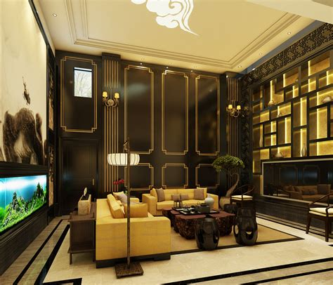 chinese style home decor the new chinese style villa living room decoration