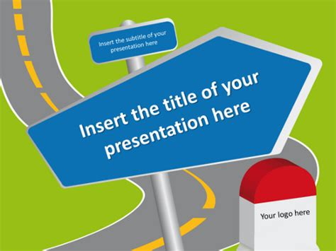 Road Signs Free Template For Powerpoint And Impress Powerpoint Road Template