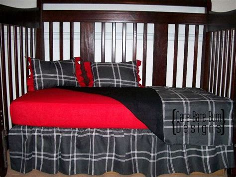 plaid crib bedding red gray plaid crib bedding on etsy 150 41 it s a boy pinterest plaid