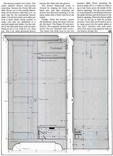 armoire plans to build build armoire woodarchivist