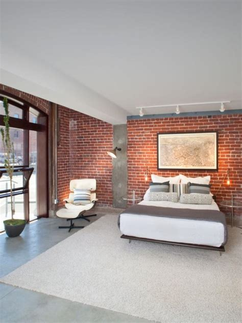 20 Modern Bedroom Designs With Exposed Brick Walls Rilane Brick Wall Bedroom Design