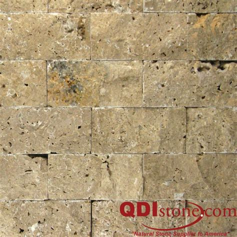 noce travertine split faced wall pavers from turkey noce travertine split face tile qdi surfaces