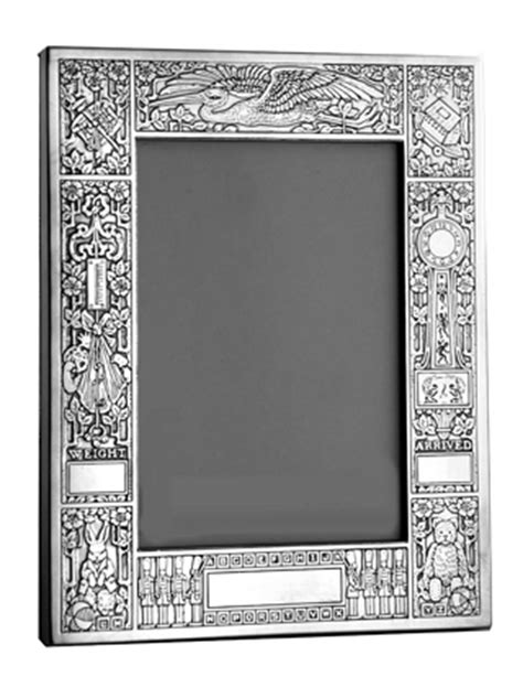 Birth Record Picture Frame 4 X 6 Birth Record Sterling Frame Charles Thomae Frames