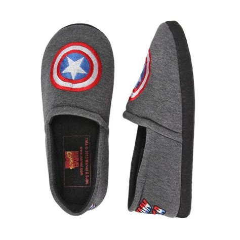 captain america slippers mens 16 best images about marvel apparel wearables on