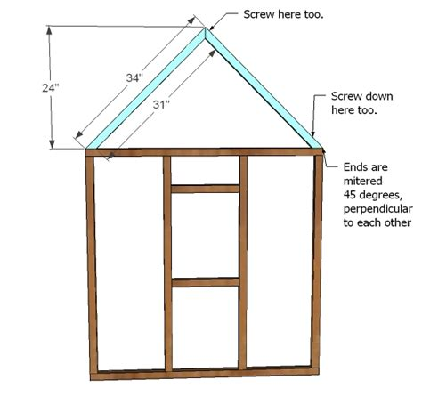 white playhouse gable end walls diy projects