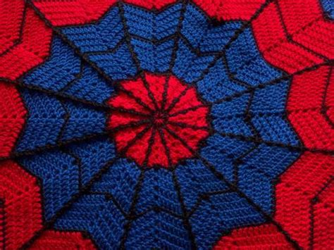 spiderman pattern crochet spiderman blanket crochet