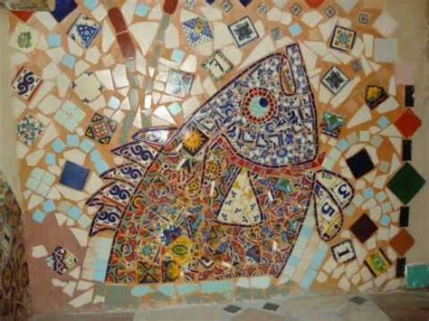 mosaicos en azulejos talavera arte youtube