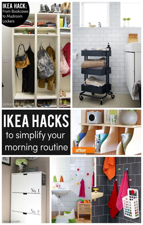 ikea organization hacks ikea hacks to simplify your morning routine