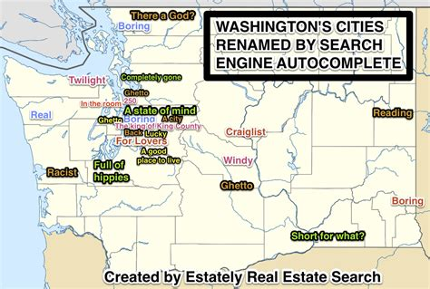 Washington State Search 25 Washington State Cities Renamed By Search Engine