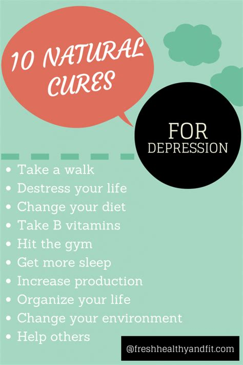 On Your Home Aurally by 10 Cures For Depression Fresh Healthy Fit