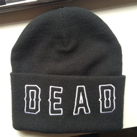 drop dead free drop dead beanie with free die luke holliday depop
